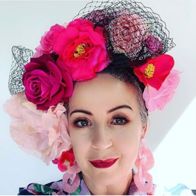 Floral Bouquet Headpiece by Flora Fascinata #54