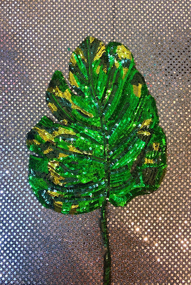 Sequinned Embellishment - Big Monstera