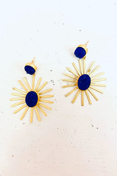 Cleopatra in Blue Earrings by Raven