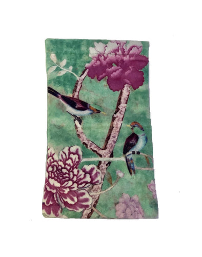 Velvet Glasses Case - Chinoiserie