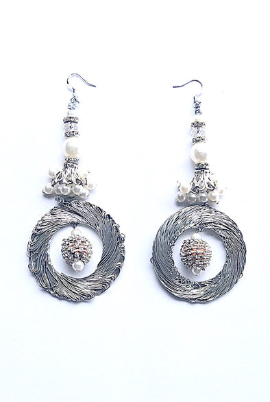 Vogue silver - Gorgeous Glamour Earring Collection