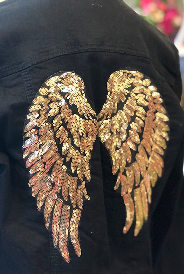 Wings Custom Jacket in Gold