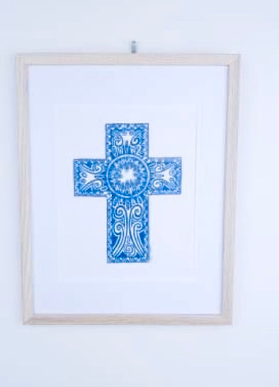 Talisman Print | Cross | by Carys Martin Ceramics
