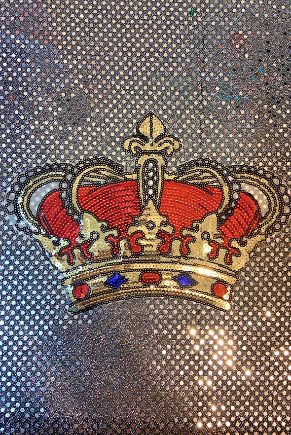 Sequinned Embellishment - Royale Crown