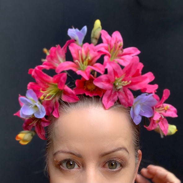 Pink Azaleas Headpiece by Flora Fascinata #70