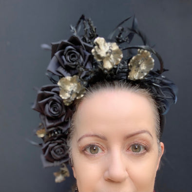 Black Gold Drama Headpiece of Flora Fascinata #72