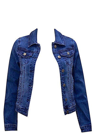 Essential Cropped Denim Jacket
