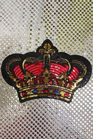 Sequinned Embellishment - Royal Crown