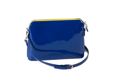 Ravello Bag in Blue with Yellow Zip - Liv & Milly