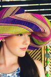 Made in Madagascar Hats - Green, Purple & Pink