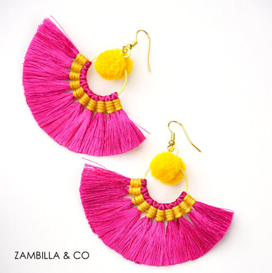 Harmony Pom Pom Mini Earrings