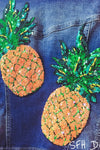 Push Pineapples Denim Jacket