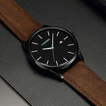 Brown Leather Classical Casual Wrist Watch For Men: