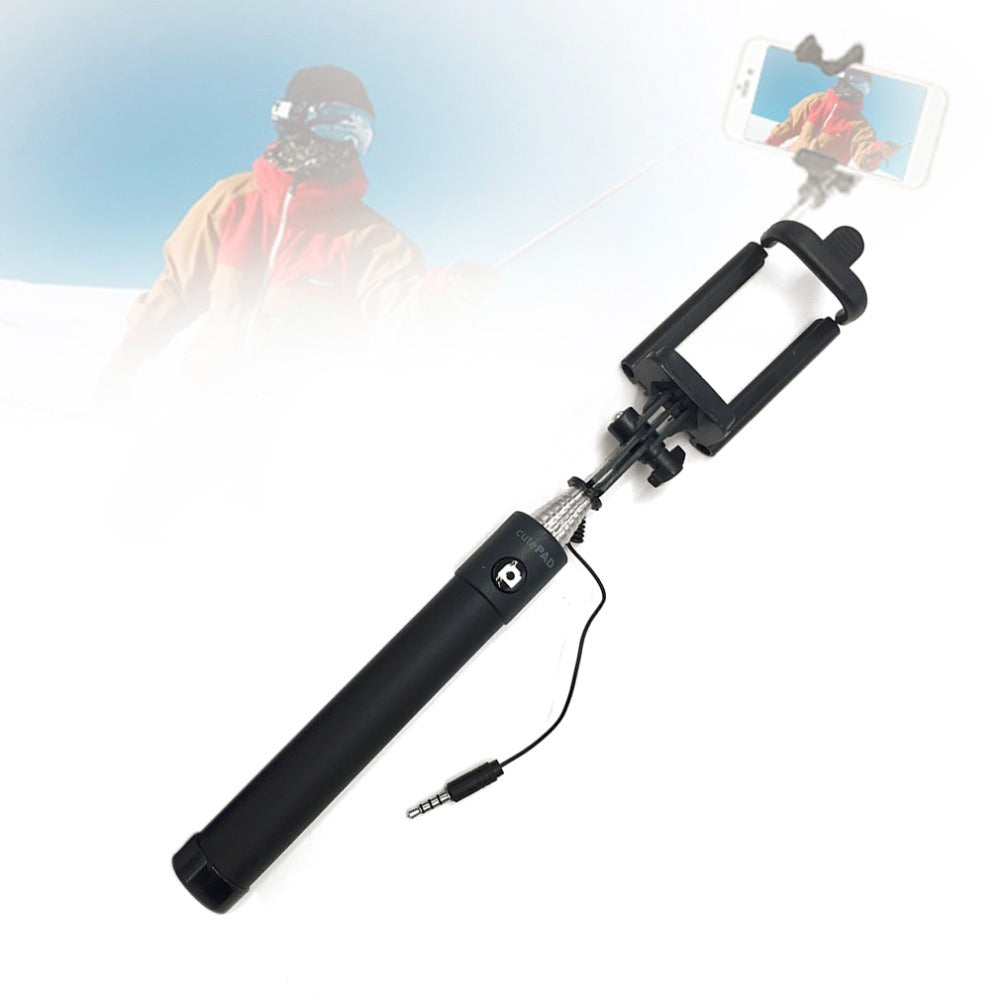 Portable Outdoor Travel Family Photo Self Selfie Sticks Folding Mobile Phone Wired Selfie Monopod For Iphone For Samsung