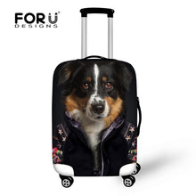 Thick Elastic Travel Luggage Protective Cover Apply 18 to 30 Inch Case 3d Animal Dog Waterproof Rain Cover for Trolley Suitcase