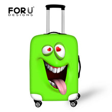 Fashion Spandex Travel Luggage Cover Emoji Smile Face Print Elastic Luggage Cover for 18-30 inch Anti-dust Suitcase Cover Zipper