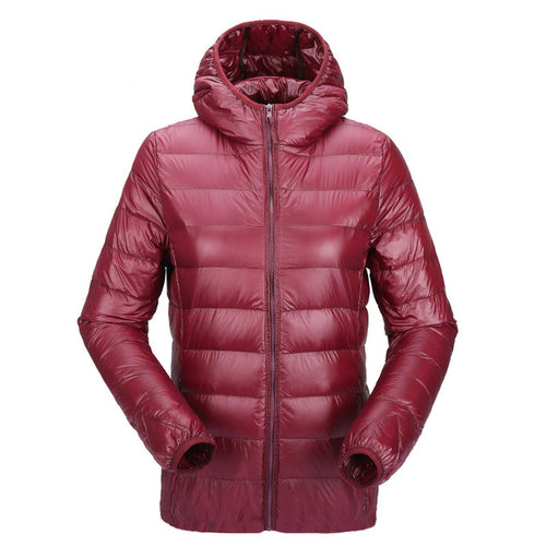 Ultra Light Women's  Hooded Winter Duck Down Jacket