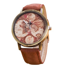 Mini World Travel Map Retro Cowboy Band Watch