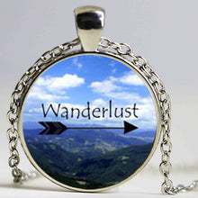 Wanderlust Glass Dome Pendant Traveller Necklace