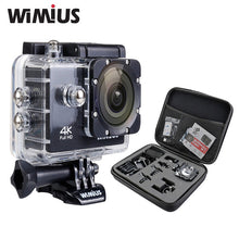 "4K 1080P 60fps Action Camera Full HD 2.0"" LCD Mini Wifi Sports Cam Go Waterproof 40m Pro+Protection Travel Storage DV Case"