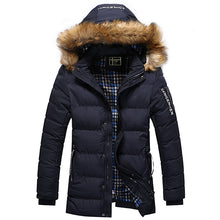 2016 Thicken Warm Winter Duck Down Jacket for Men Fur Collar Parkas Hooded Coat Plus Size Overcoat Western Style