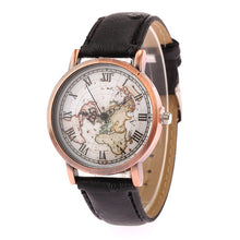 World Map Roman Numeral Watch