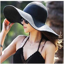 Floppy Wide Brimmed With Big Heads Straw Hat