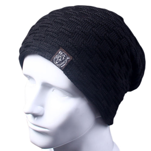Casual Brand Men Winter Hat Beanie