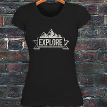 Explore Mountain Banner Outdoors Adventure Travel Women's
