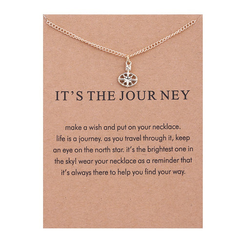 Is The Journey Travel Compass Necklace & Pendant