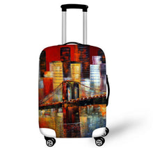 FORUDESIGNS Statue of Liberty Elastic Travel Luggage Protective Cover Stretch Protect Trolley Suitcase Cover for 18-30 Inch Case