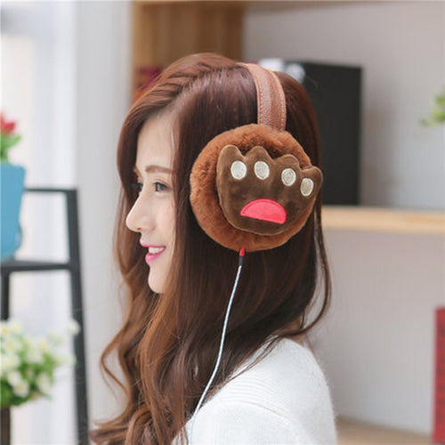 New Hot Autumn Winter Music Earphones Earmuffs For Women Faux Fur Unisex Korean Ear Muffs Earcap Earmuff Ear Warmer