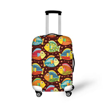 FORUDESIGNS Travel Luggage Anti-dust Cover Waterproof Elastic Stretch Trolley Case Protector Cover For 18-30 Inch Suitcase Cases