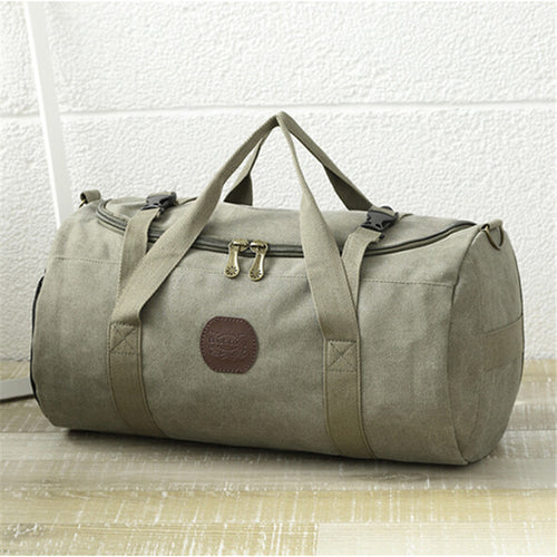 Cylindrical Weekend Duffle Bag