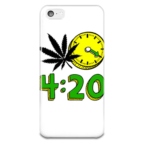 420 Cannabis Weed Leaf Design Phone Case