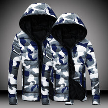 Mens Jackets Winter Coat Cotton Padded Zipper Outwear Masculino Military Camouflage Hooded Warm Male His and Hers Clothing Lover