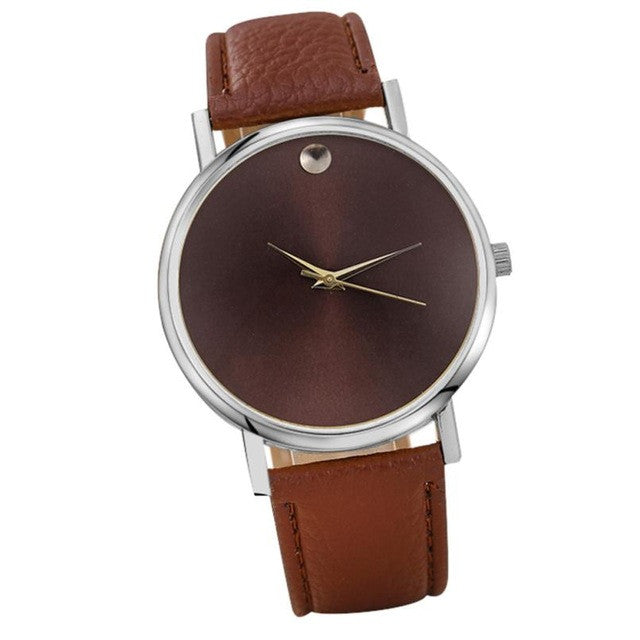 Leather Casual Quartz Wrist Watch For Women