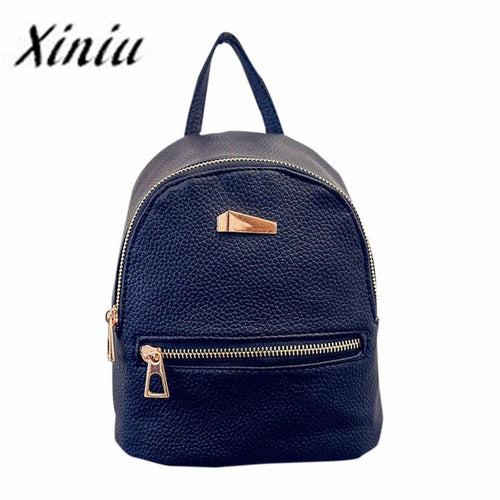 Xiniu Women Backpack Small Shell Type Women's Leather Backpack Travel School Rucksack for teen girls feminina Mochila Escolar#SE