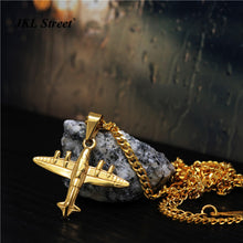 Jet Fighter Airplane Necklace