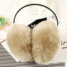 2017 Women Faux Rabbit Fur Earmuffs Girls Cute Plush Fluffy Ear Warm Muffs Lady Earlap Earmuffs Winter Thermal Ear Cover