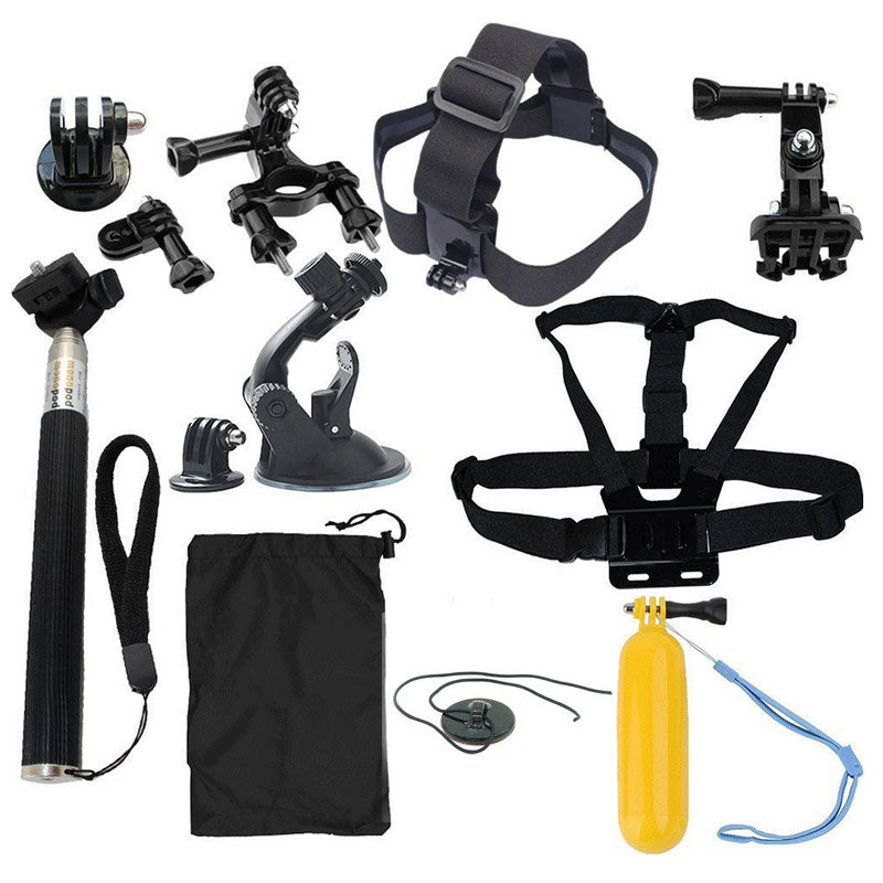 Tekcam Action Camera accessories Set for Gopro Hero 5 4 SJCAM SJ6 Legend Xiaomi YI 4K plus Eken H9R H8R Gitup Git2 Sports Camera