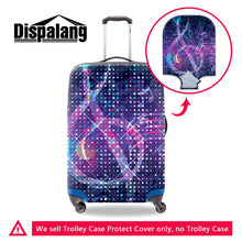 Dispalang colorful design travel luggage cover thick protective suitcase covers elastic 18-30 inch anti-dust trolley case covers