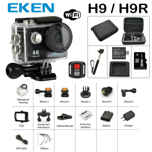 Action Camera Ultra HD 4K waterproof pro camera