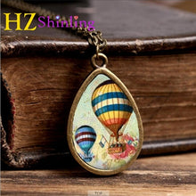 Hot Air Balloon Teardrop Necklace