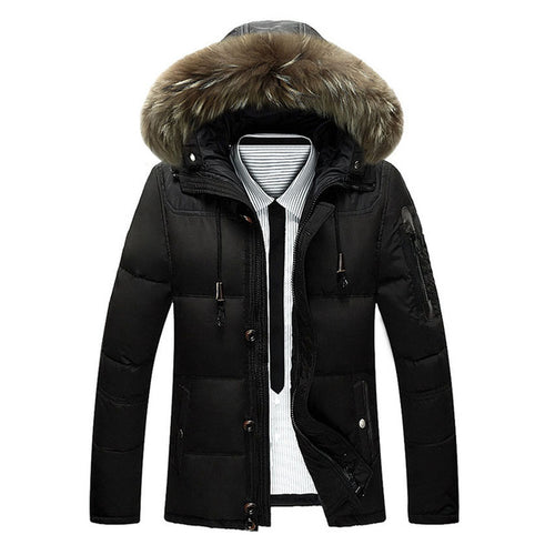Men's Thick Fur Hooded Coat
