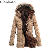 FICUSRONG Winter Men's Jacket Coat Men's Outdoors New Fashion Casual Thick Warm Hooded Down & Parkas Winter Coat Size S-3XL