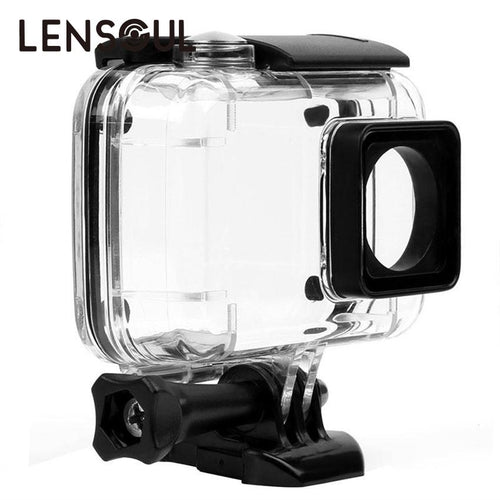 lensoul Waterproof Case Shell Underwater Snorkeling Protective Housing for Gopro Hero Xiaomi Yi 4 K Xiaoyi 2 Sports Camera