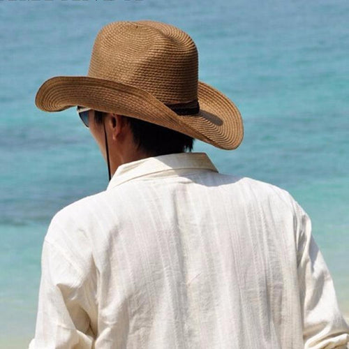 Foldable Beach Cowboy Leisure Travel Straw Hat