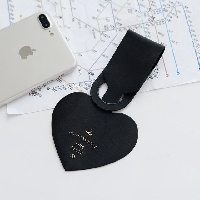 Heart Shaped Luggage Tag