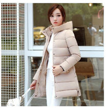 TNLNZHYN 2018Women Winter Jacket Coat Thicken Warmer Hooded Cotton Down Jacket High-end Medium Long Ms. Clothing Outerwear WA890